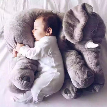 60cm Fashion Baby Animal Elephant Style Doll Stuffed Elephant Plush Pillow Kids Toy for Children Room Bed Decoration Toys