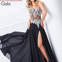 Strapless Corset Bodice Prom Gown By Tony Bowls Le Gala 115549