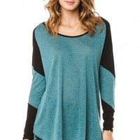 Maloney Top in Teal - ShopSosie.com