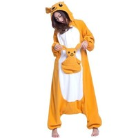 Ferrand Kigurumi Pajamas Unisex Adult Cosplay Costume Animal Pyjamas Kangaroo XL