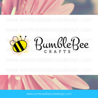 OOAK Premade Logo Design - Bumble Bee - Perfect for a craft supplies shop or a DIY projects blog