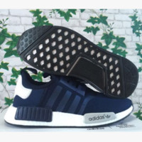 """Adidas"" Women Men Trending NMD Running Sports Shoes Navy blue"