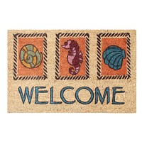 "A1HC First Impression Multicolored Coir Engineered Anti Shred Treated Welcome Doormat, 18"" X 30"""