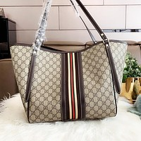 GUCCI Fashion Women Shopping Bag Leather Handbag Tote Satchel Shoulder Bag