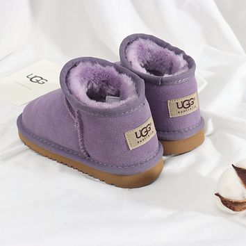 UGG Girls Boys Children Baby Toddler Kids Child Fashion Casual Boots-1