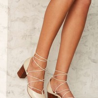 Intentionally Blank Hatter Leather Heel - Ivory