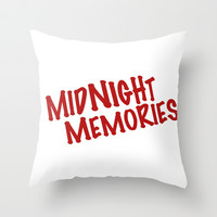 *** Midnight Memories *** 1 D  Throw Pillow by The Letter Shop *** Harry Louis Niall Liam Zayn