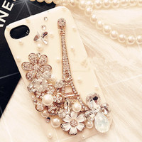 Fashion Paris iPhone case iPhone 5 case, iPhone 4 case, iphone 4s case, Bling iPhone 5 case,iphone 5 cover iphone 4s cover