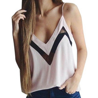 NEW Women  V-neck Loose Sleeveless Casual Tank Tops For Women Ladies T-Shirt Tops Vest Camis Female #33 SM6