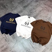 Balenciaga wheat ear letter logo T-shirt simple and clean Tee Shirt Top