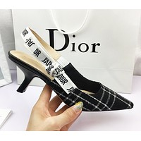 DIOR New fashion letter high heels shoes black