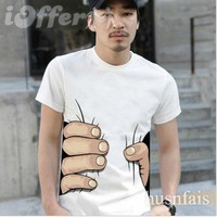 """iOffer: """"i catch you"""" 2012 new men's T-shirt women's T-shirt  for sale"""