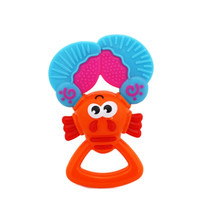 Baby Teether Toys Colorful Crayfish Teether Baby Rattle Toy 5.5*3.1''