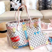 LV 2019 new canvas mother shopping bag hand shoulder bag two-piece