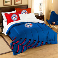 Toronto Blue Jays MLB Embroidered Comforter Twin-Full (Contrast Series) (64 x 86)