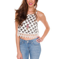 Lady Hearts Crop Top