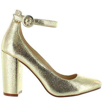 Chinese Laundry Veronika - Gold Glitter Ankle Strap Pump