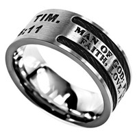 Man Of God Cable Ring - 1 Timothy 6:11 | Mardel