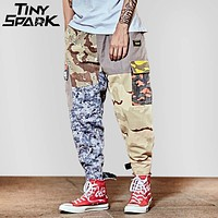 Hip Hop Pant Street wear Men Baggy Harem Pant Ankle Patchwork Trousers Pocket Casual Camouflage Tactical Cargo Pants