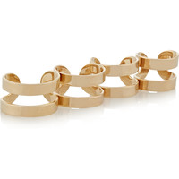 Maison Margiela - Set of four gold-plated rings