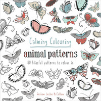 Calming Colouring Animal Patterns Adult Coloring Book 80 Coloring Designs