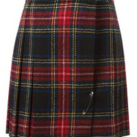 Saint Laurent tartan mini skirt