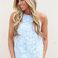 Better In Blue Lace Tank