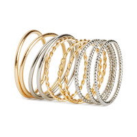 H&M - 10-pack Rings - Gold/Silver - Ladies