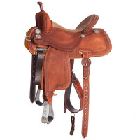 Martin Crown C Barrel Racer Snake Border Roughout Saddle