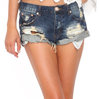 One Teaspoon Bandits shorts in tiger