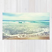 Oh, the sea, the sea... Area & Throw Rug by Lisa Argyropoulos   Society6
