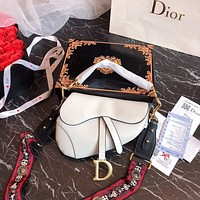 DIOR Classic Popular Saddle Bag Handbag Shoulder Bag Crossbody Satchel