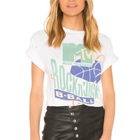 Junk Food MTV Rock N' Jock Tee in White | REVOLVE