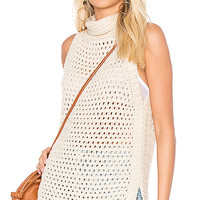 Free People Northern Lights Vest in Ivory