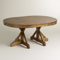 Round to Oval X Base Extension Table - World Market