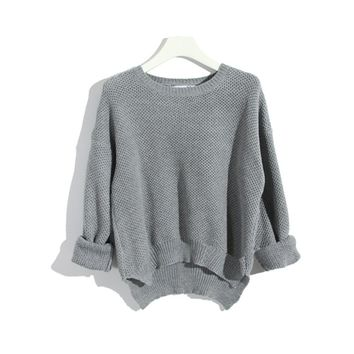 Candy Color Leisure Mesh Jumper