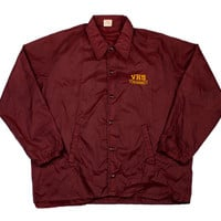 Vintage 1980s VHS Crushers Coaches Jacket Made in USA Mens Size XL