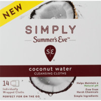 Summer's Eve Simply Cleansing Cloths, Coconut Water, 14 Ct - Walmart.com
