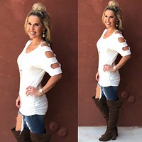 Go With the Wind Top: Ivory