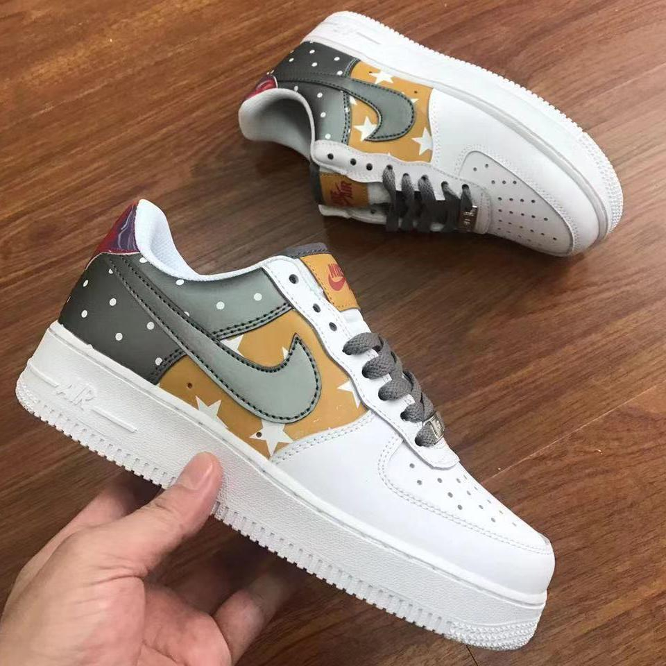 Image of Nike Air Force One Fashion Star series low-top casual sneakers for both men and women