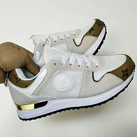 LV louis vuitton fashion men's and women's stitching casual sports shoes 1