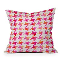 Betsy Olmsted Watercolor Houndstooth Throw Pillow