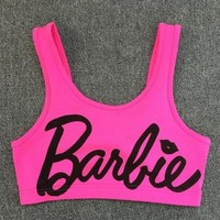 Barbie tank bra crop top