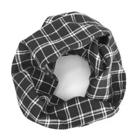 Unisex Scarf Black Plaid White Plaid Baby Flannel Scarf Child Scarf Toddler Scarf Baby Bib Scarf Girl Scarf Boy Scarf Ready To Ship