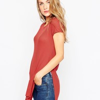 ASOS Tunic Top with Side Split at asos.com