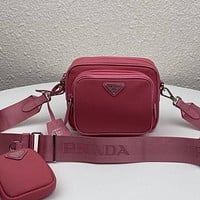 Prada High Quality Women Fashion Crossbody Satchel Set Two Piece
