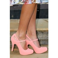 Working Up The Courage Heels-Coral