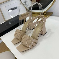 ysl women casual shoes boots fashionable casual leather women heels sandal shoes 82