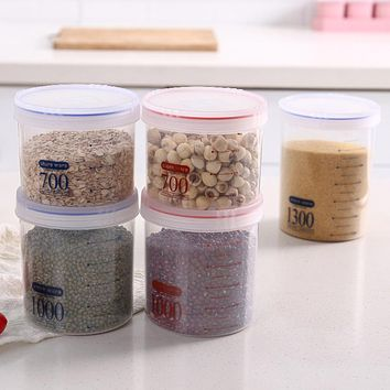 Transparent Moisture-Proof Plastic Snacks With Desiccant Sealed Cans Of Milk Powder Cans Kitchen Grain Receive A Case Storage Tank