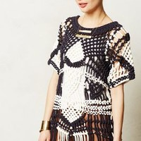 Grand Storm Knotted Pullover by Anthropologie Navy